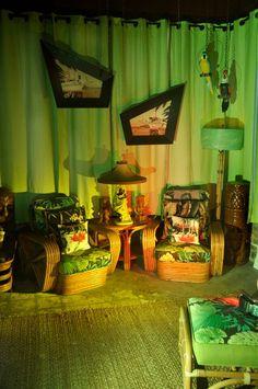 Tiki Room hepcatrestorations.com Vintage Tiki, Vintage Decor, Retro Vintage, Tiki Art, Tiki Tiki, Tiki Decor, Surf Decor, Pin Up, Hawaiian Decor