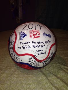 Get All The Team Mates To Make A Memorable Soccer Ball For Senior