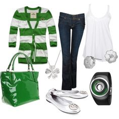 Ode to St. Patrick, created by luchenskil on Polyvore    In case school is in on St. Patty's day