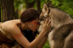 Girl and wolf Mantra, Karma, Keep Dreaming, Good Thoughts Quotes, Wolf Love, Closer To Nature, Imagines, My Spirit, The Girl Who