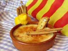 Gastronomia catalana: crema catalana. La tradició diu que s'ha de menjar per Sant Josep (19 de març)