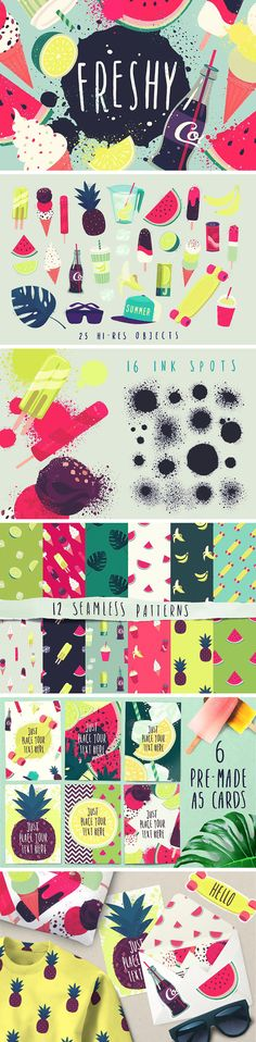 Lush patterns, juicy textures, and colorful objects promise you a pouring rain of excitement by your creations. Your personal summer is already here! Social Media Pages, Free Photoshop, Icon Collection, Free Graphics, Happy Summer, Free Illustrations, Icon Set, Digital Illustration, Icon Design