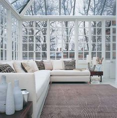 Sunroom with a glass ceiling! I have always wanted one and would be perfect for star gazing