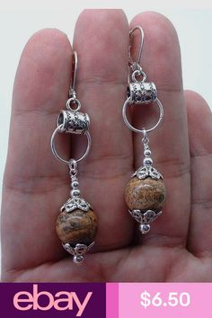 Unique Sterling Silver Tribal style dangle earrings / Bali art of handmade jewelry / silver 925 / 2 inch long, silver earrings dangle - Custom Jewelry Ideas Diy Earrings, Sterling Silver Earrings, Earrings Handmade, Handmade Jewelry, Silver Rings, Silver Bracelets, 925 Silver, Handmade Soaps, Handmade Silver