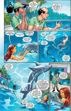 Starfire makes out with a dolphin 2 Dc Comics Vs Marvel, Dc Comics Art, Comic Movies, Comic Books, Nightwing And Starfire, Starfire Comics, Robin, Detective, Superman Story
