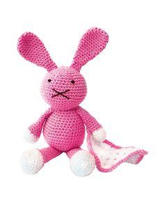 The Crafty Kit Co Baby Pink Bunny amigurumi crochet kit #crochet #gift #cute #animal #craft