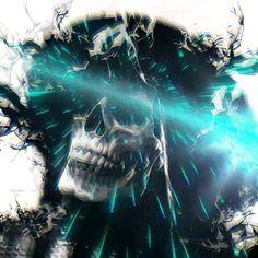 Creepy Art, Weird Art, Optical Illusion Gif, Grim Reaper Art, Scary Wallpaper, Skull Artwork, Scary Stuff, Lowbrow Art, Scully
