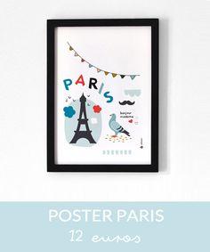 poster Paris  // Hëllø Blogzine www.hello-hello.fr