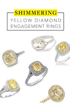 Diamonds don't have to be white. Rock a yellow center stone — a celeb favorite — for a sunny and trendy engagement ring style.
