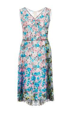 Silk-Satin Floral-Print Dress by Nina Ricci Now Available on Moda Operandi