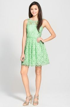 Cute light green lace dress