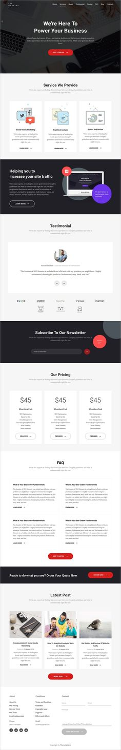 SEO is a wonderful #bootstrap #template suitable for Digital #Marketing #Agency, Studios or Consultancy Services website download now➩ https://themeforest.net/item/seo-digital-marketing-template/18562764?ref=Datasata