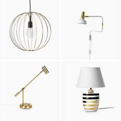 Lampor i blänkande metall | Mio