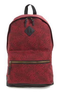 Topman Leaf Print Backpack available at #Nordstrom