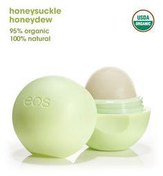 EOS lip balm in honeydew