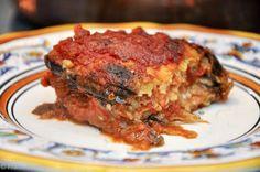 Parmigiana di melanzane (Eggplant Parmesan) - eggplants can be grilled