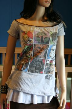Star Wars off the shoulder diy shirt top XLARGE by boobercakes
