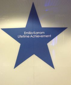 Her own star at the DCOTA design center in Miami.