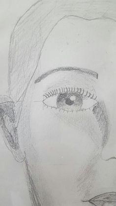 Portret natekenen detail