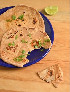 """5 min Whole Wheat Naan Recipe. Great for making """"skinny girl"""" pizzas or for dipping."""