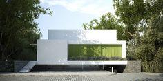 House with a green veil to S3NS Architecture - Igor Kazmierczak, via Behance