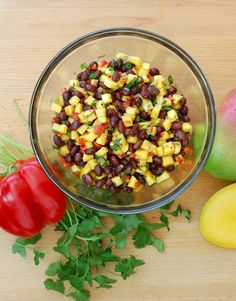 mango, black bean + wild rice salad