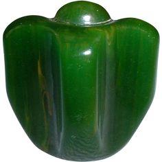 Bakelite Figural Realistic Green Pepper Button