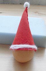 Eierwärmer Weihnachtsmütze basteln