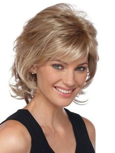 Medium Length Hairstyles For Curly Hair with Bang