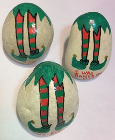 Elf Painted Rocks Christmas Painted Rocks
