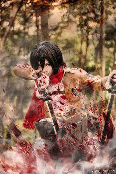 Mikasa Ackerman (Attack on Titan) by YUEGENE