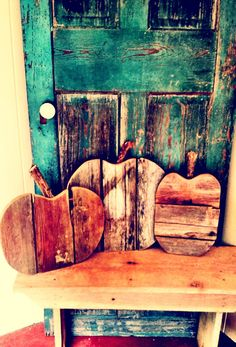 Set of 3 barn wood pumpkins. by SouthrenVintage on Etsy, $59.00