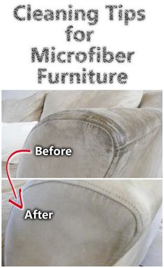 Cleaning microfiber furniture is not as difficult as it may seem. You need to use a product that will dissolve and evaporate quickly. Here are a few simple tips on how to clean a microfiber sofa Deep Cleaning Tips, House Cleaning Tips, Diy Cleaning Products, Cleaning Solutions, Spring Cleaning, Cleaning Hacks, Green Cleaning Recipes, Grand Menage, Ideas