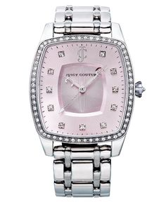 Juicy Couture Watch, Women's Beau Pink Tone Stainless Steel Bracelet 32x44mm 1900973 - Women's Watches - Jewelry & Watches - Macy's