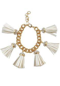 Ella Gold Fringe Bracelet Tassel Necklace, Bracelets, Gold, Jewelry, Charm Bracelets, Jewellery Making, Jewlery, Arm Bracelets, Bangles