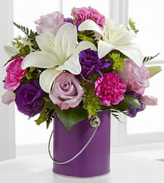 The FTD® Color Your Day With Beauty™ Bouquet - VASE INCLUDED- Deluxe