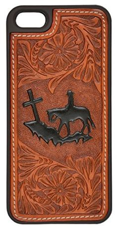 3D Belt Company iPhone 5 / 5s soft hand plastic case with natural floral, hand-tooled, Praying Cowboy design leather inlay and contrast stitching. http://www.amazon.com/dp/B00O81IXMO/ref=cm_sw_r_pi_dp_c3Fevb1T0PVDN