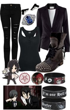 """Black Butler"" by onedirectionlover99-872 ❤ liked on Polyvore"