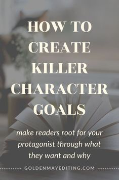 Create Killer Character Goals | Your protagonist needs both internal and external goals they're prepared to fight tooth and nail to get. #writingtips #writingadvice #characterdevelopment #charactergoals #amwriting Character Development Writing, Writing Advice, Have Fun, Writer, Novels, Self, How To Get, Feelings