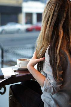 long wavy hair & a cappuccino...