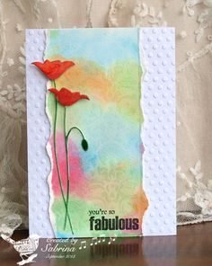 Fabulous Washout Card...cook 22: Cards and Paper Crafts at Splitcoaststampers.