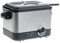 Cuisinart Compact Deep Fryer, Brushed Stainless Steel: commercial deep frying outcomes with little burden on your wallet! Home Deep Fryer, Best Deep Fryer, Kitchen Items, Kitchen Dining, Kitchen Gadgets, Kitchen Stuff, Kitchen Ware, Kitchen Small, Kitchen Things