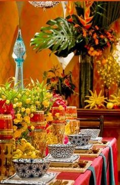 Colorful Morroccan Style Table Scape