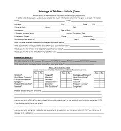 59 Best Massage Intake Forms for any Client - Printable Templates Massage Intake Forms, Massage Therapy Business Cards, Stationary Shop, Company Letterhead, Legal Forms, Good Massage, Buy Business, Printables, Printable Templates