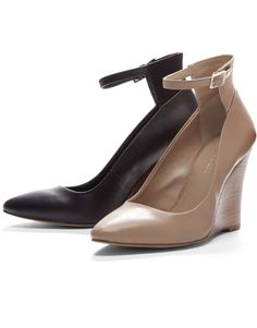 Ankle Strap Wedge Heels. Perfect for my internship