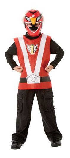Kit Power Ranger™ vermelho criança