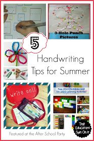 The Educators' Spin On It: Handwriting Tips for Kids {After School Link Up}