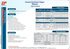 It is a co-extruded, white opaque, both sides corona treated paper like film.