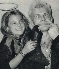Drew Barrymore and Billy Idol | Rare and beautiful celebrity photos