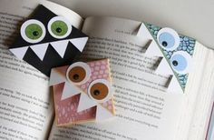 One of the pinners said: Bookmarks: made at girl scout camp out 01/12. So cute and the girls enjoyed as well.